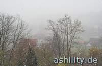 erster Schnee in Leonrod
