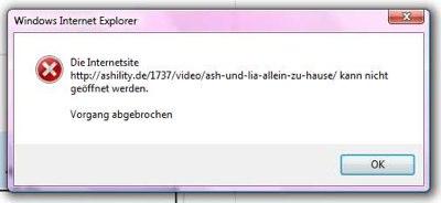 Internet Explorer Fehler