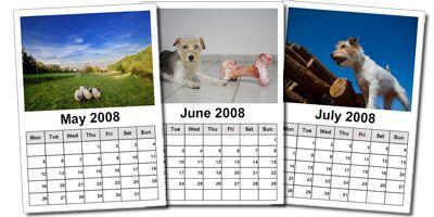 Beispiele für Kalenderblätter