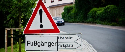 Fußgänger Heizung