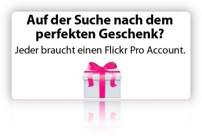 Flickr Abonnement verschenken!
