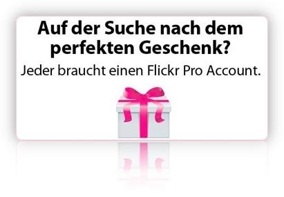 Flickr Abonnement verschenken!