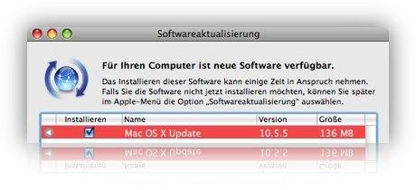 MAC OSX 10.5.5 Update