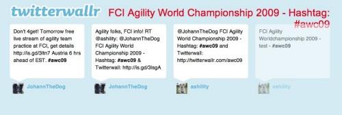 Twitterwall - Agility World Championship 2009